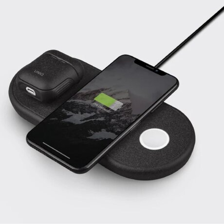 Incarcator Wireless Uniq Aereo BLACK QC 3.0 pentru Apple Watch/Airpods Negru