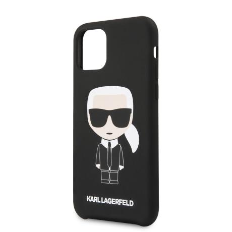 Karl Lagerfeld Iconic Silicone Cover pentru iPhone 11 Pro Negru