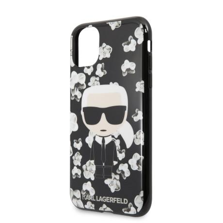 Karl Lagerfeld TPU Flower Cover pentru iPhone 11 Pro Max Negru