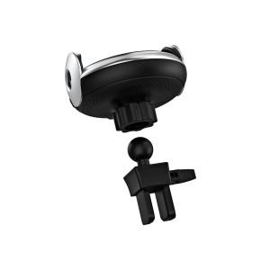 Kit Suport Auto Hoco CA48 Air Vent si Ventuza cu Incarcare Rapida Wireless Negru