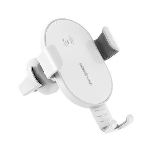 Kit Suport Auto+Incarcator Rapid Borofone Wireless BQ5 5W/7.5W/10W Alb