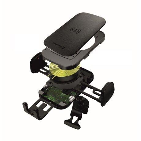 Kit Suport Auto+Incarcator Wireless Swissten S-GRIP W2-AV5 Air Vent 15W Negru