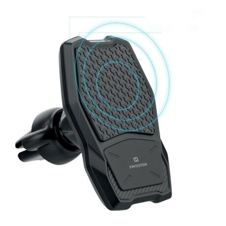 Kit Suport Auto+Incarcator Wireless Swissten S-GRIP WM1-AV3 Air Vent 10W Negru