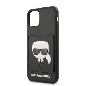 Husa Cover Karl Lagerfeld CardSlot pentru iPhone 11 Pro, Negru