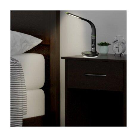 Lampa Goui Nuru cu Incarcare Wireless 10W QC 3.0 si Afisaj Led cu Input Type C Negru