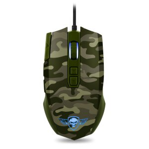 Mouse Gaming Spirit of Gamer M-50 Army Edition Gaming 4000DPi Optic 8 Butoane Negru