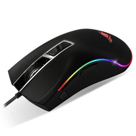 Mouse Gaming Spirit of Gamer RGB Gaming 6400DPi Optic 8 Butoane Multicolor