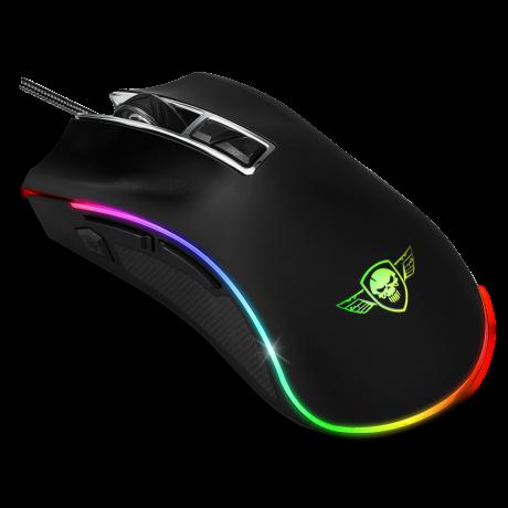 Mouse Gaming Spirit of Gamer RGB Gaming 4800DPi Optic 8 Butoane Multicolor