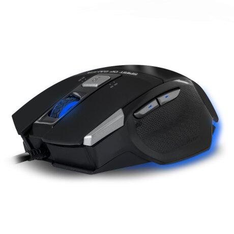 Mouse Gaming Spirit of Gamer Pro-M8 Light Edition 3500DPi Optic 7 Butoane Multicolor