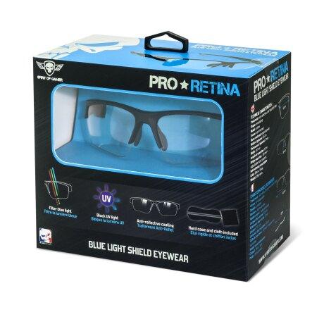 Ochelari Gaming cu Protectie Spirit of Gamer Pro Retina AntiBlue/UV Negru