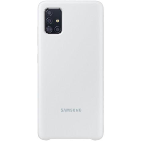 Samsung Husa Originala  Galaxy A71 Silicon Cover, Alb
