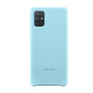Samsung Husa Originala  Galaxy A71 Silicon Cover Albastru