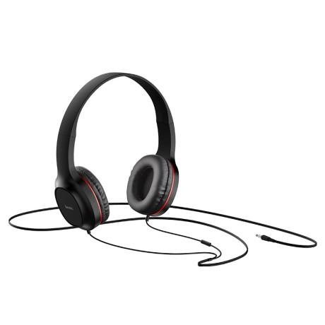 Set Casti Audio In-Ear Si On-Ear Hoco W24 Jack 3.5mm 1.2m Albastru