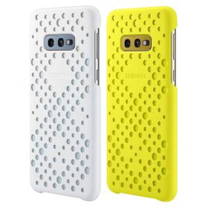 Set Husa Cover Samsung Pattern pentru Samsung Galaxy S10e Alb - Galben