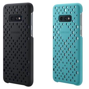 Set Husa Cover Samsung Pattern pentru Samsung Galaxy S10e  Negru si Verde