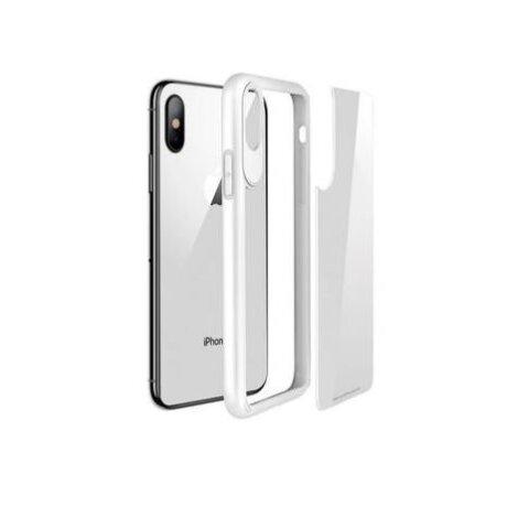 Husa sticla  Hoco Zero Point pentru iPhone X/XS Alb