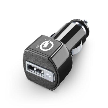 Set Incarcator Auto Cellularline  QC 3.0 18W+Cablu Date Type C 1m Negru