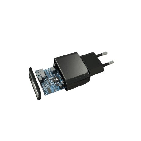 Set Incarcator Retea Cellularline 5W+Cablu Date Micro Usb 1m Negru