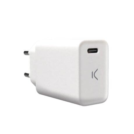 Set Incarcator Retea 18W cu USB C Ksix Alb