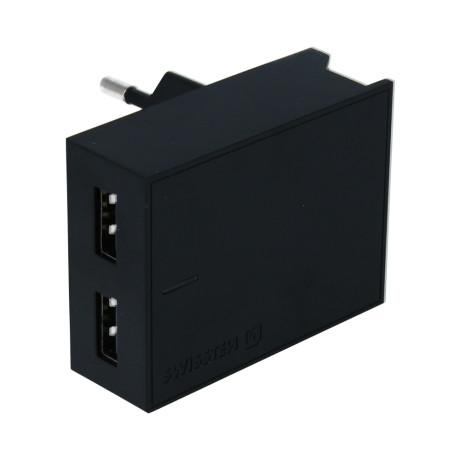 Set Incarcator Retea Swissten Smart IC 2xUSB 3A+Cablu Date Lightning 1.2m Negru