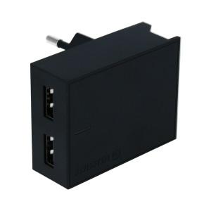 Set Incarcator Retea Swissten Smart IC 2xUSB 3A+Cablu Date Micro Usb 1.2m Negru