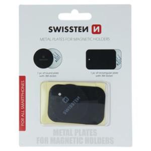 Set Sticker Swissten pentru Suport Magnetic Negru