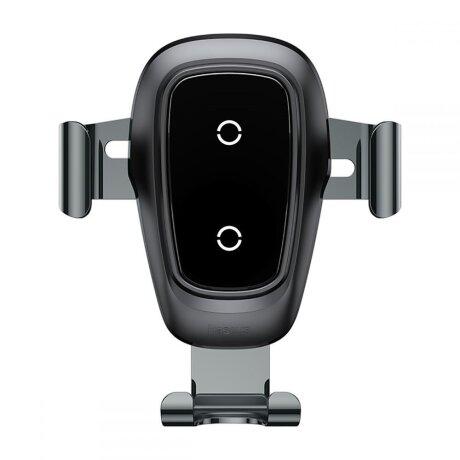 Suport Auto cu incarcare wireless Baseus Gravity Air Vent 5V Negru