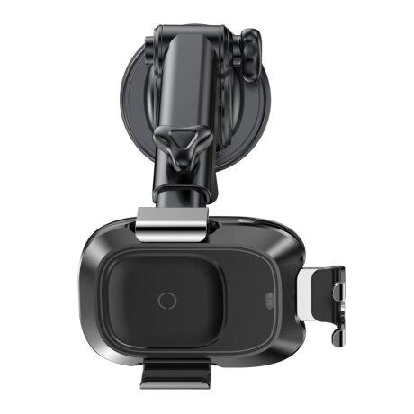 Suport Auto Baseus Smart  cu Incarcare Wireless si Prindere Automata Negru