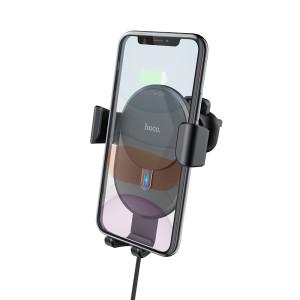 Suport Auto cu Incarcare Wireless, Hoco CW25, Negru