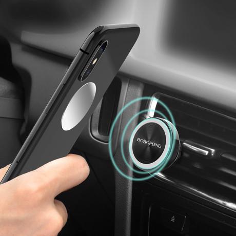 Suport Auto Magnetic Borofone  BH6 Platinum Air Vent Argintiu