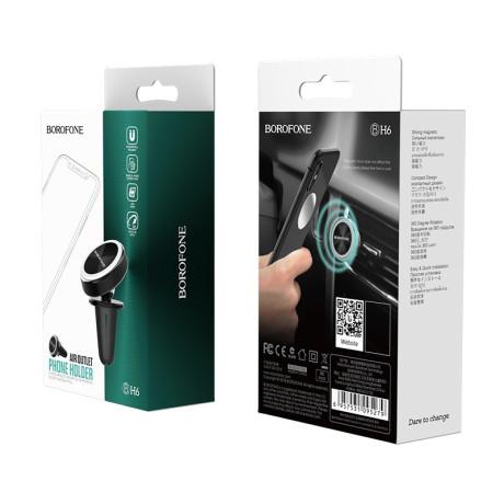 Suport Auto Magnetic Borofone  BH6 Platinum Air Vent Negru